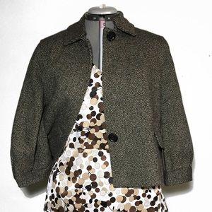 Michael Michael Kors Brown Tweed Crop Jacket L
